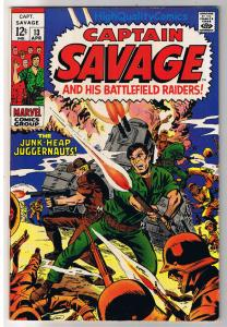 CAPTAIN SAVAGE #13, VF+, Leathernecks, BattleField, 1968, more in store