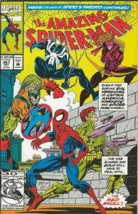 Amazing Spiderman #367 ORIGINAL Vintage 1992 Marvel Comics Red Skull