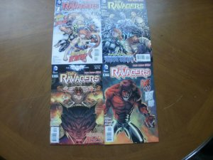 4 DC Comic THE RAVAGERS #1 2 3 4 (2012) New 52 Teen Titans Terra Fairchild Beast