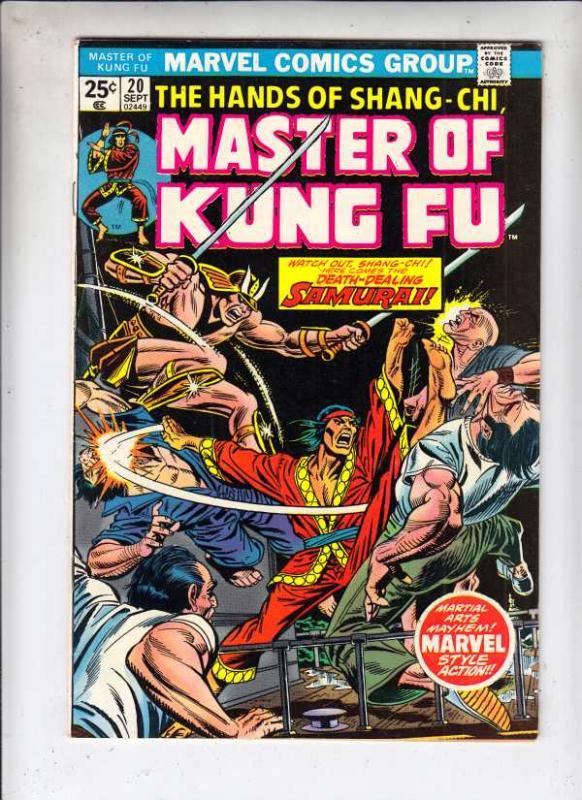Master of Kung Fu, the Hands of Shang-Chi #20 (Sep-74) VF/NM High-Grade Shang...