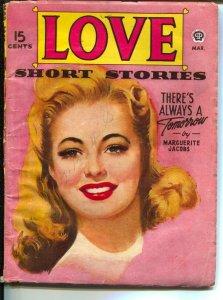 Love Short Stories 3/1945-Popular-pin-up girl cover art-WWII era-Marguerite J...