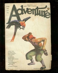 ADVENTURE PULP-6/10/23-PIRATE & PARROT COVER-RARE VERY GOOD-nice copy VG