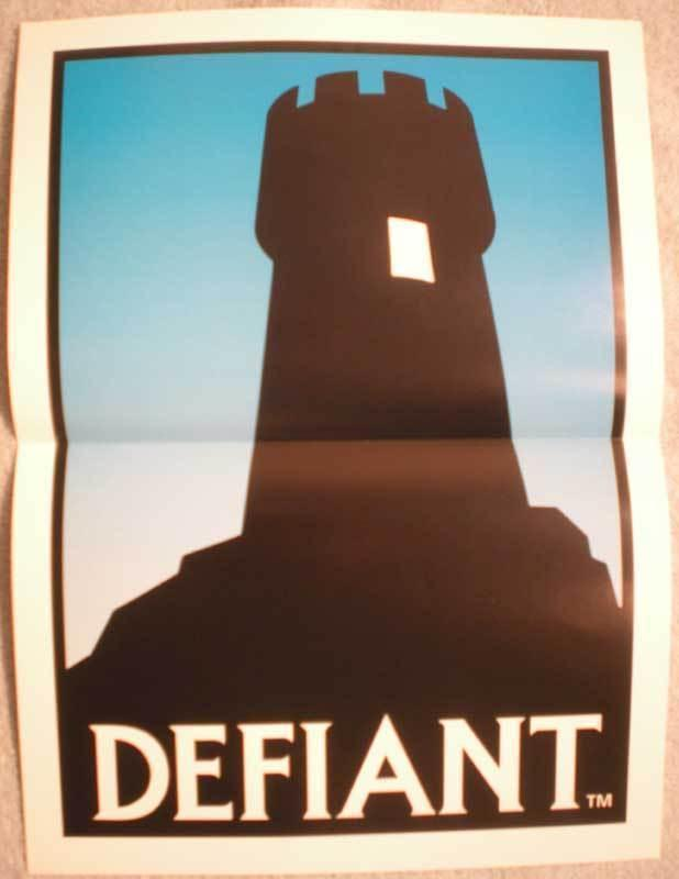 DEFIANT Promo poster, 11 x 15, Unused, more promos in our store