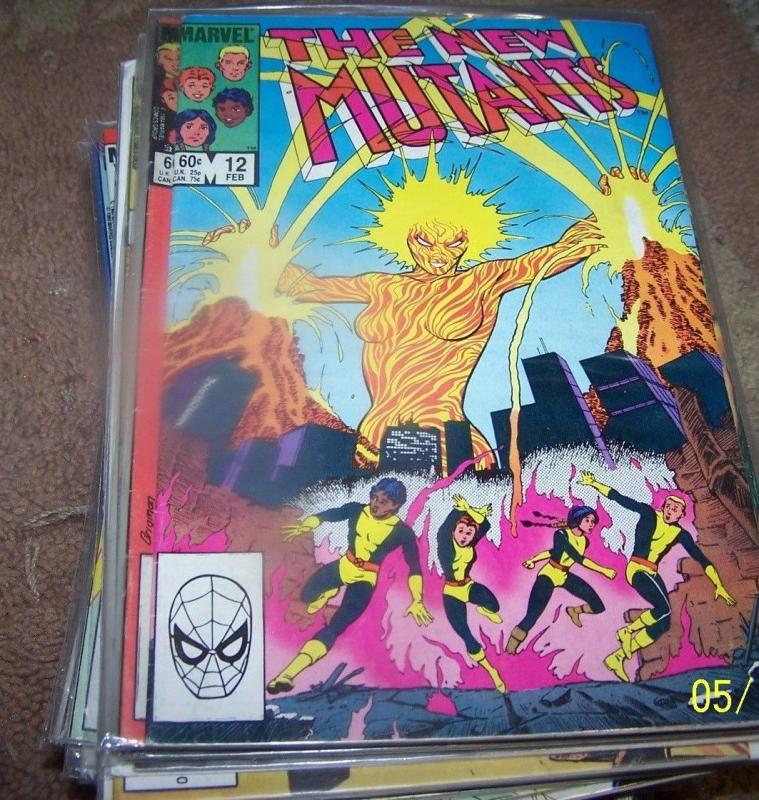 NEW MUTANTS  COMIC # 12 1984 marvel   X MEN  ARMRA SUNSPOT MIRAGE