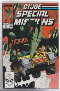 G.I. JOE SPECIAL MISSIONS #25 DINOSAUR COVER BAGGED & BOARDED, MARVEL COMICS