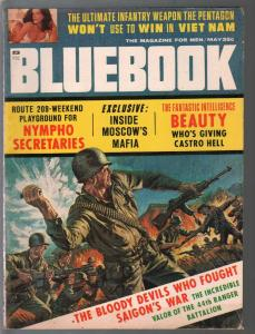 Bluebook 5/1966-Vietnam War cover-Russian Mafia-cheesecake pix-VG
