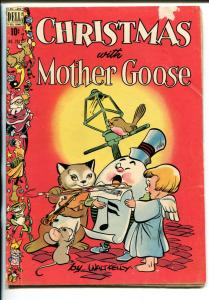 CHRISTMAS WITH MOTHER GOOSE #201-1948-DELL-FOUR COLOR-WALT KELLY ART-vg minus