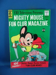 MIGHTY MOUSE FAN CLUB MAGAZINE 3 F+ 1958 NICE BACK COVER