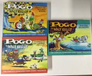 Pogo Volume 1 2 3 Fantagraphics Books Hc Hardcovers 1949-1954 Near Mint B20