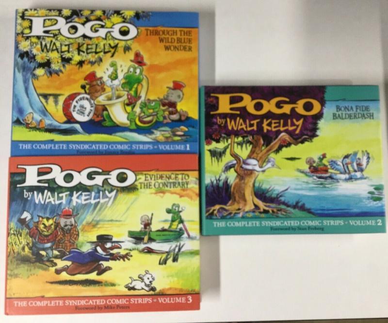 Pogo Volume 1 2 3 Fantagraphics Books Hc Hardcovers 1949-1954 Near Mint B20