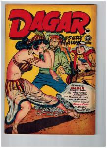 Dagar Desert Hawk #16 NM- 1948 Fox Features GOLDEN AGE Comic Book Jungle HOT JJ1