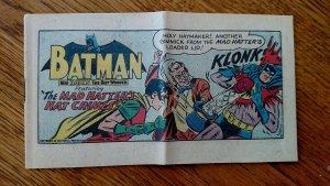 Batman 60's Pop-Tart Comics The Mad Hatter's Crimes 1966