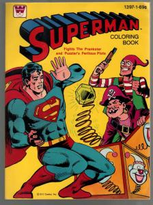 Superman Coloring Book #1397-1 1980-complete comic book story-VF