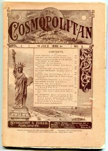 The Cosmopolitan Magazine #5 July 1886- Statue of Liberty- vg+