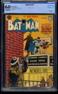 Batman #64 CBCS FN 6.0 Cream To Off White