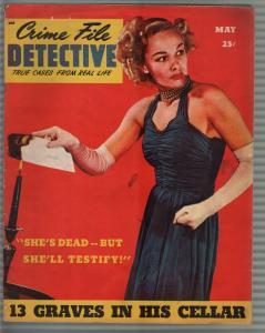 Crime File Detective #1 5/1946-carnival murder-morbid violent pulp thrills-VG