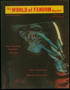 The World of Fandom Fanzine #1 1985- Nightmare on Elm Street- Evil Dead VG