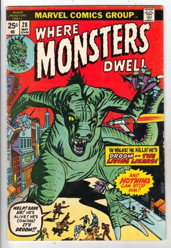 Where Monsters Dwell #28 (May-74) VF/NM High-Grade