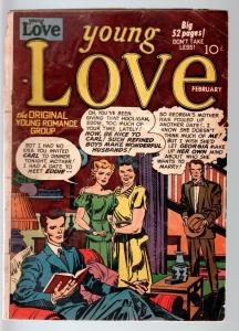 YOUNG LOVE #7-1950-ROMANCE-SIMON & KIRBY STORIES AND COVER-PRIZE-G cond G