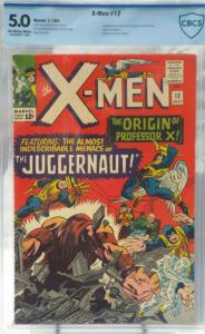 X-Men #12 - CBCS 5.0 - 1st App. & Origin of Juggernaut - Origin Prof. X