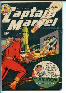 CAPTAIN MARVEL #81 1948-FAWCETT-ROBOT-ROCKET SHIP-MR ATOM-COMET MEN-vg=