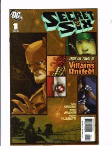 Lot of 2 Secret Six DC Comic Books #1 3 BH53