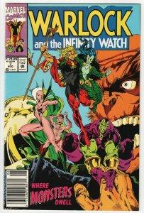 Warlock & Infinity Watch #7 (Marvel,1992) FN