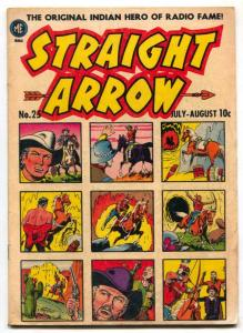 Straight Arrow #25 1952- Ghost of Hiawatha- VG