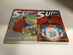 All Star Superman Volume 1 2 Lot Nm Near Mint DC Comics SC TPB