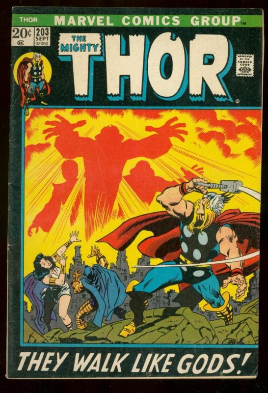 THOR #203 1972 MARVEL COMICS JOHN BUSCEMA ART VG