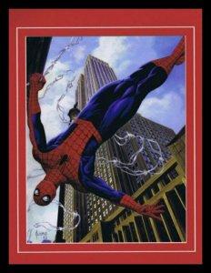 Spider-Man Peter Parker Framed 11x14 Marvel Masterpieces Poster Display