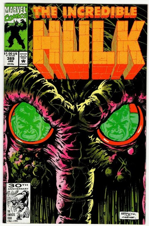 INCREDIBLE HULK #389 (8.5-9.0) Man-ThingI ! No Resv! 1¢ Auction! See More!!!