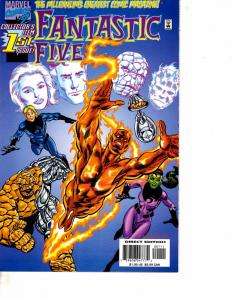 Lot Of 2 Marvel Comic Books Fantastic Five #1 and 2099 Unlimited #4 ON12