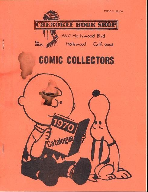 CHEROKEE COMIC CATALOG-1970 ECs, PEANUTS COVER-GOLD AGE VG/FN
