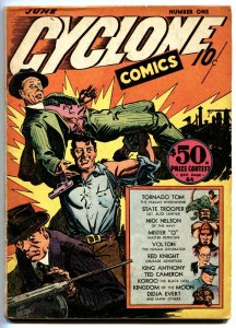 Cyclone Comics #1-1940-First issue-Human Whirlwind-comic book