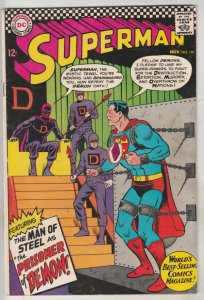 Superman #191 (Nov-66) FN/VF Mid-High-Grade Superman, Jimmy Olsen,Lois Lane, ...