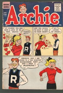 ARCHIES COMICS #90(1958!) SOLID VG 4.0  10 cent cover Archie! GAY cover joke.