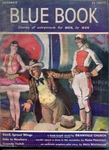 BLUE BOOK PULP-OCT 1941-VG-STOOPS COVER-BEDFORD-JONES-BOND-CHRISTIE VG