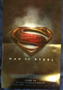 MAN OF STEEL Promo Poster, 11 x 17, 2014, DC Unused more in our store 440