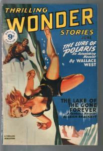 Thrilling Wonder Stories #3 6/1950-Begley GGA art-pulp sci-fi & fantasy-Briti...