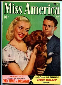 Miss America Vol. 7 #7 1948-Timely-Patsy Walker-comics-Cocker Spaniel-fashion-VG