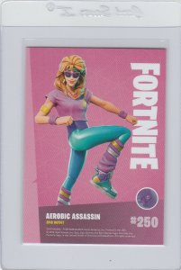 Fortnite Aerobic Assassin 250 Epic Outfit Panini 2019 trading card series 1