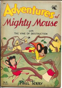 Adventures of Mighty Mouse #6 1952-St John-Dan Crippen Collection-sci-fi-FN+