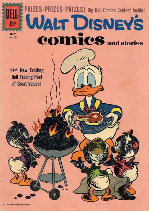 Walt Disney's Comics and Stories #250 VG; Dell | low grade comic - save on shipp