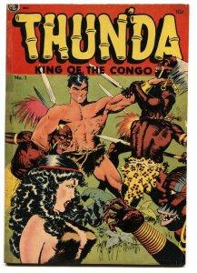 Thunda #1 Thun'da Frank Frazetta art Good Girl Art 1952 - Restored