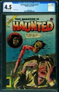 This Magazine Is Haunted #15 CGC 4.5 1954- Precode horror 1560272011