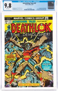 Astonishing Tales #25 (1974) CGC Graded 9.8 First appearances of Deathlok the...