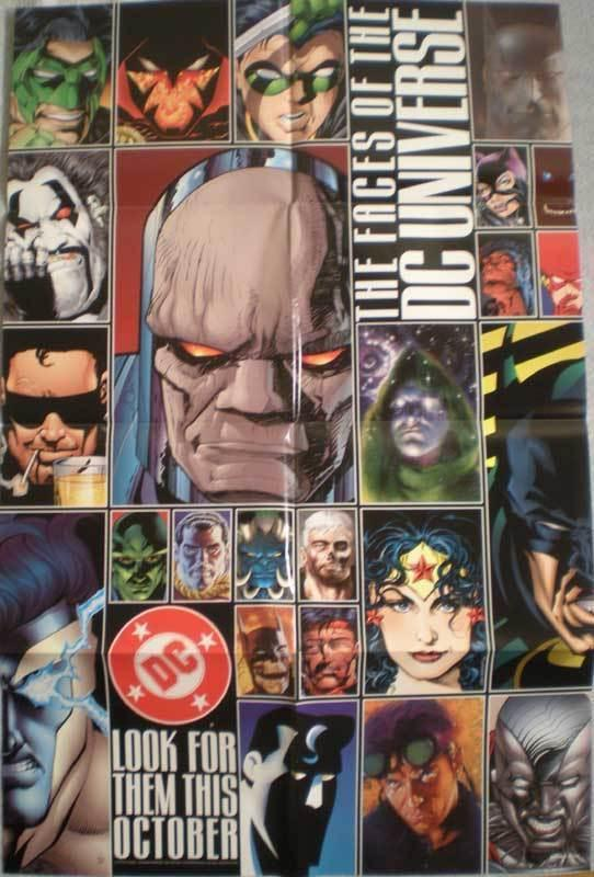 FACES of the DC UNIVERSE Promo poster, 22x34, Unused, more Promos in store