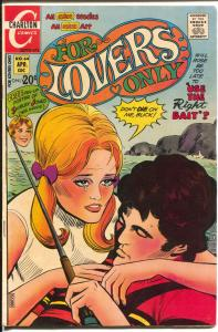 For lovers Only #64 1972-Charlton-death cover-Shirley Jones-swinger-VG