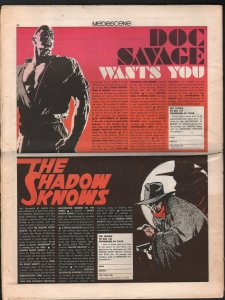 Mediascene #14 7/1975-Supergraphics-Shadow-Steranko-Great Pulp Heroes-VG
